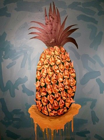 pineaple artwork by Radames Juni Figueroa