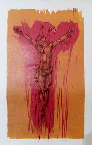 art of Jesus Christ crucifixion by Omar Velazquez