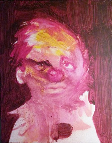 clown painting by Aby Ruiz
