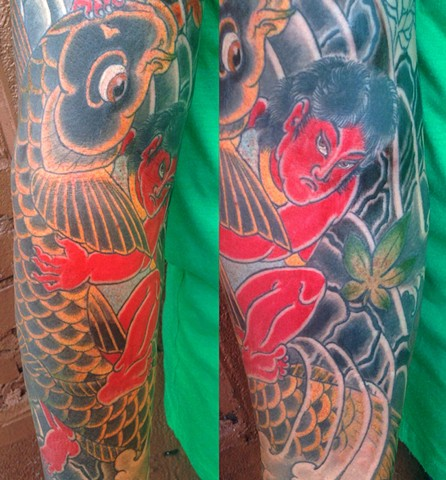 Kintaro and koi for Dan