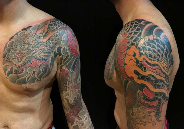 Dragon and Koi for Anton