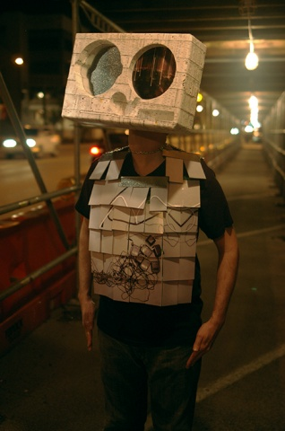 SHREDDED DOCUMENT MASK and PHOTO ARMOUR