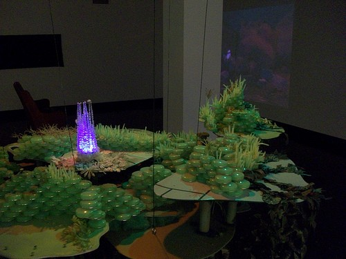 Lawndale Art Center, Kelly Ulcak Moss, Ta Tamarmaruga, collaboration, installation, Plato's Cave