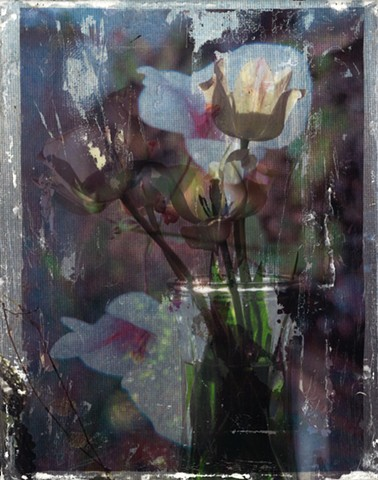 image transfer flowers vase