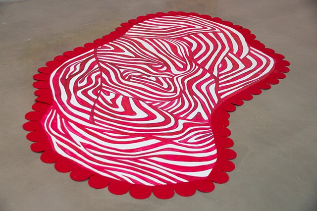 Red and White Striped Blanket