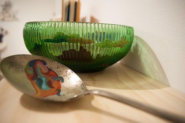 Liquid Landscape: Bowl & Spoon
