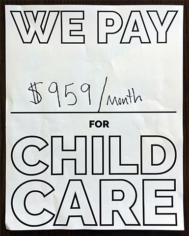 We pay $959/month for child care.