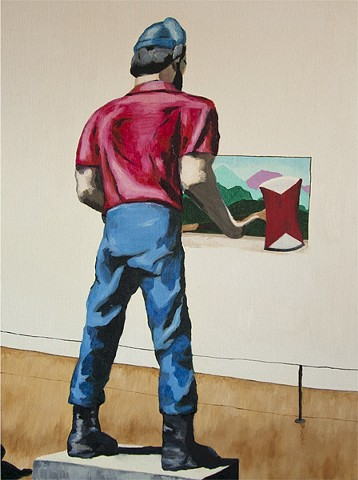 Paul Bunyan Looks at Art