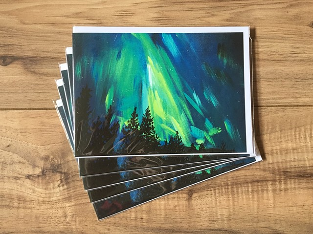 Northern Lights greetings cards