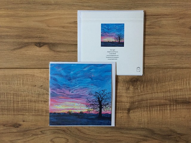 First Light greetings card