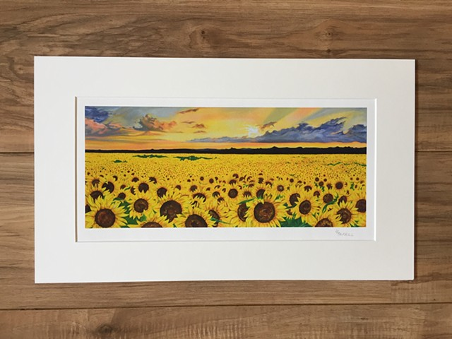Sunflower print sunset
