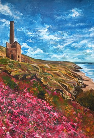 Tin Mine acrylic painting