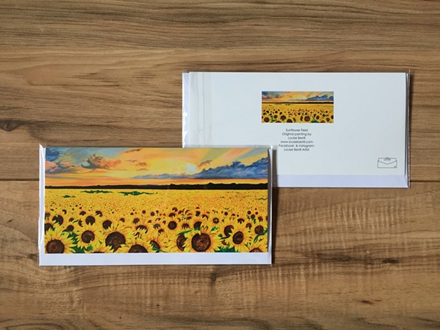 Sunflower greetings card landscape
