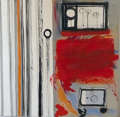 """IN EVERY ROOM"" (SOLD) Oil, Acrylic, India Ink on Canvas"