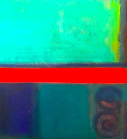 """CIRCLES AROUND ROTHKO""  (34"" x 56 1/4"")"