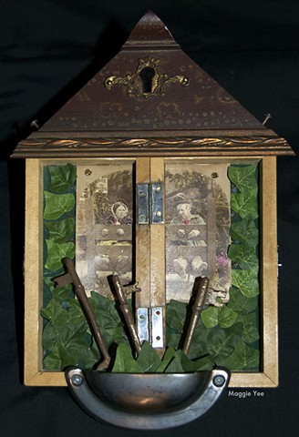 Shrine, skeleton keys, key hole, bondage