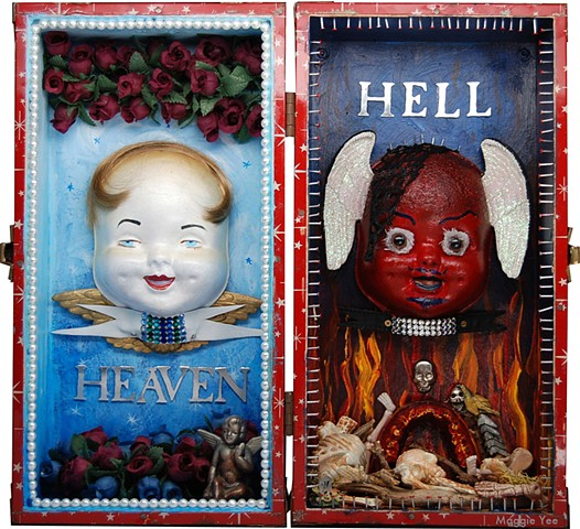 Doll carrier, angel, devil, roses, skulls, wings nails, pearls teeth