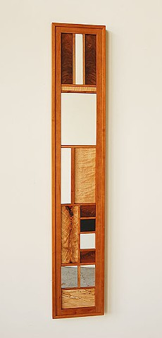 "Long view mirror series 11x61""  walnut or cherry frames, assorted hardwoods ( shown with cherry frame )"