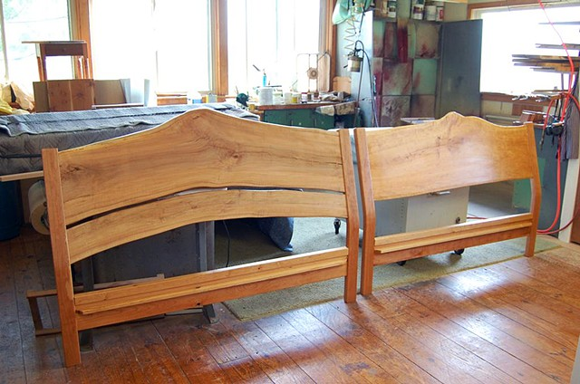 Bed head boards, live edge panel, queen or king