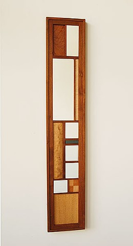 "Long view mirror series 11x61"" walnut or cherry frames, assorted hardwoods ( shown with walnut frame )"