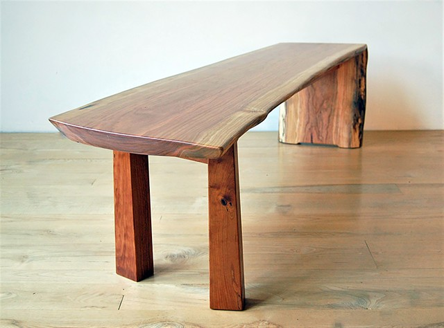 Walking Waterfall Bench  Cherry top on cherry base.