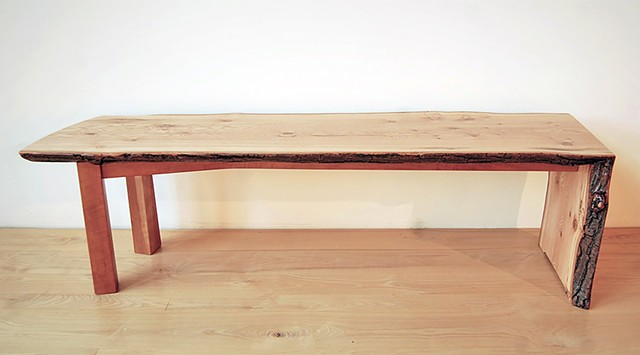 Walking Waterfall Bench Pin oak on cherry base.