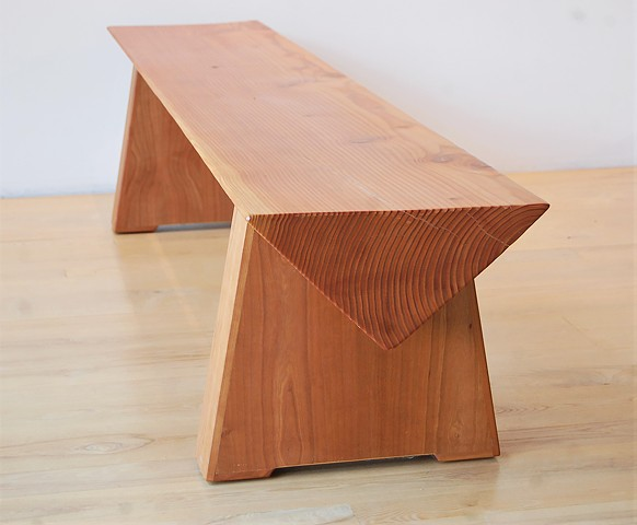 Isosceles Timber Bench