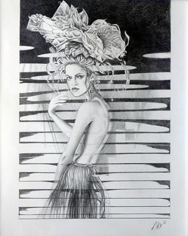 woman flowers headdress