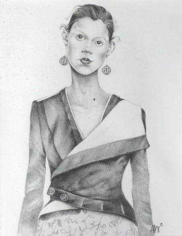 model portrait drawing