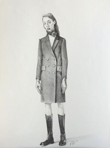 coat woman skinny