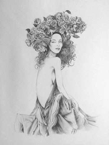 woman flowers beautiful