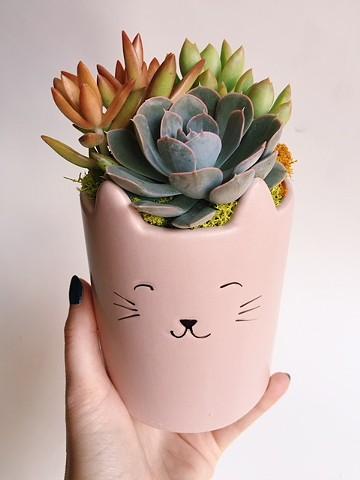 Cat planter $28-$30