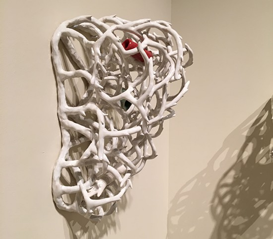 Ceramic Wall Sculpture Branch forms