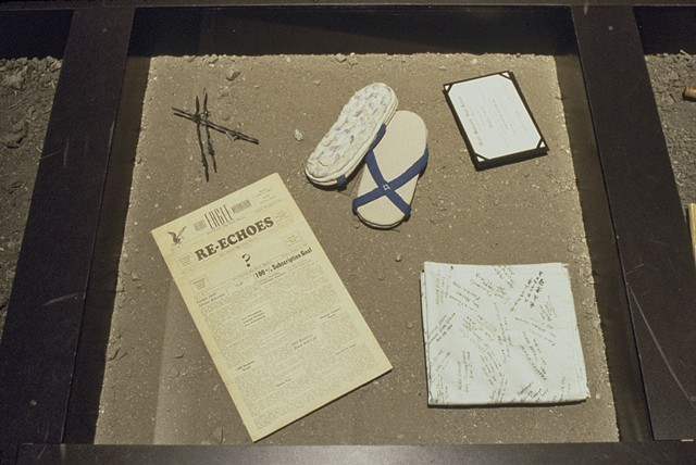 Relics from Camp, Kristine Aono, Japanese American, community, installation, internment camps, WWII, Relics, Japanese American National Museum, National Museum of Women in the Arts
