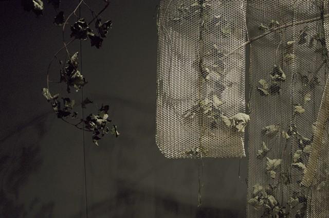 Leaf Kimono, Kristine Aono, sculpture, kimono series