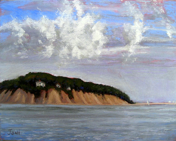 Pastel painting of Pleasant Bay in Orleans on Cape Cod