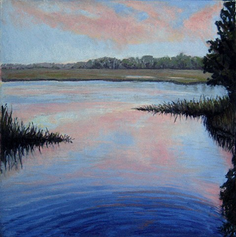 soft pastel landscape, south carolina, low country