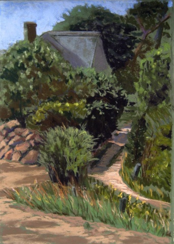 pastel painting, Cape Cod, Chatham, Oyster River, beach path