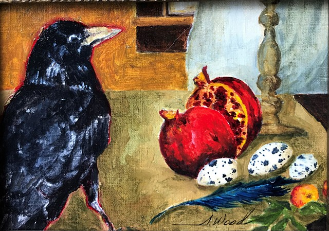 Crow and Pomegranate