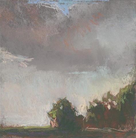 landscape, pastel, small, low horizon, constable, moody, sunset, moody, sunset