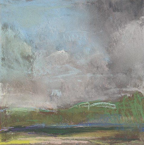 landscape, pastel, small, low horizon, constable, moody, sky