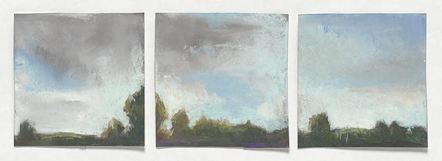 landscape, pastel, small, low horizon, constable, moody