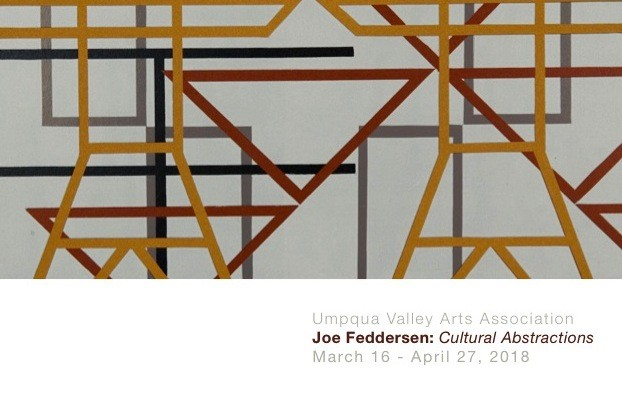 March 16, 2018 Joe Feddersen: Cultural Abstractions at the Umpqua Valley Arts Center, Roseburg, OR