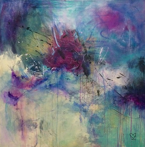 acrylic painting, contemporary art, abstract, intuitive art, Cindi zimmerman