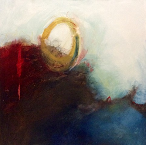 acrylic painting, abstract, intuitive abstract, Cindi Zimmerman, peace
