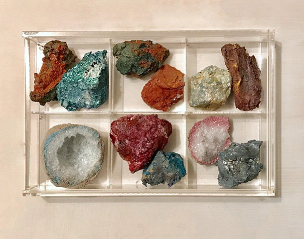 rock collection with geodes
