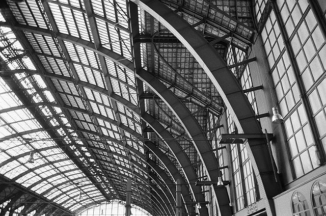 Glass Enclosure Antwerp Train Shed, The Neherlands