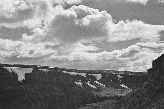black and white, photo, landscape, Iceland