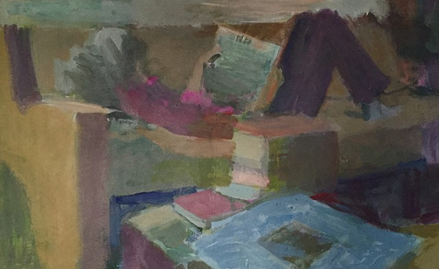 figure lying on couch