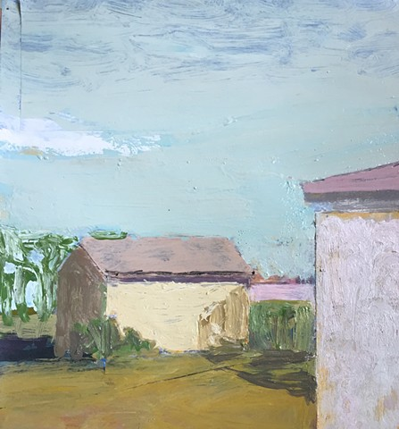 Landscape with two houses